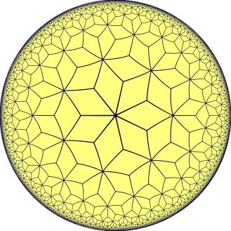 Order-7-3 rhombille tiling