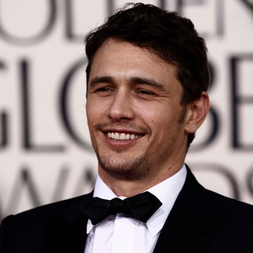 Actor James Franco arrives at the Golden Globe Awards Sunday, Jan. 16, 2011, in Beverly Hills, Calif. (AP Photo/Matt Sayles)